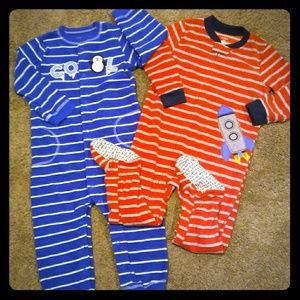 🌟3 for 30🌟 2-24mo Boys Carter's Fleece Pajamas